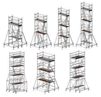 Andamio de plataforma en torre