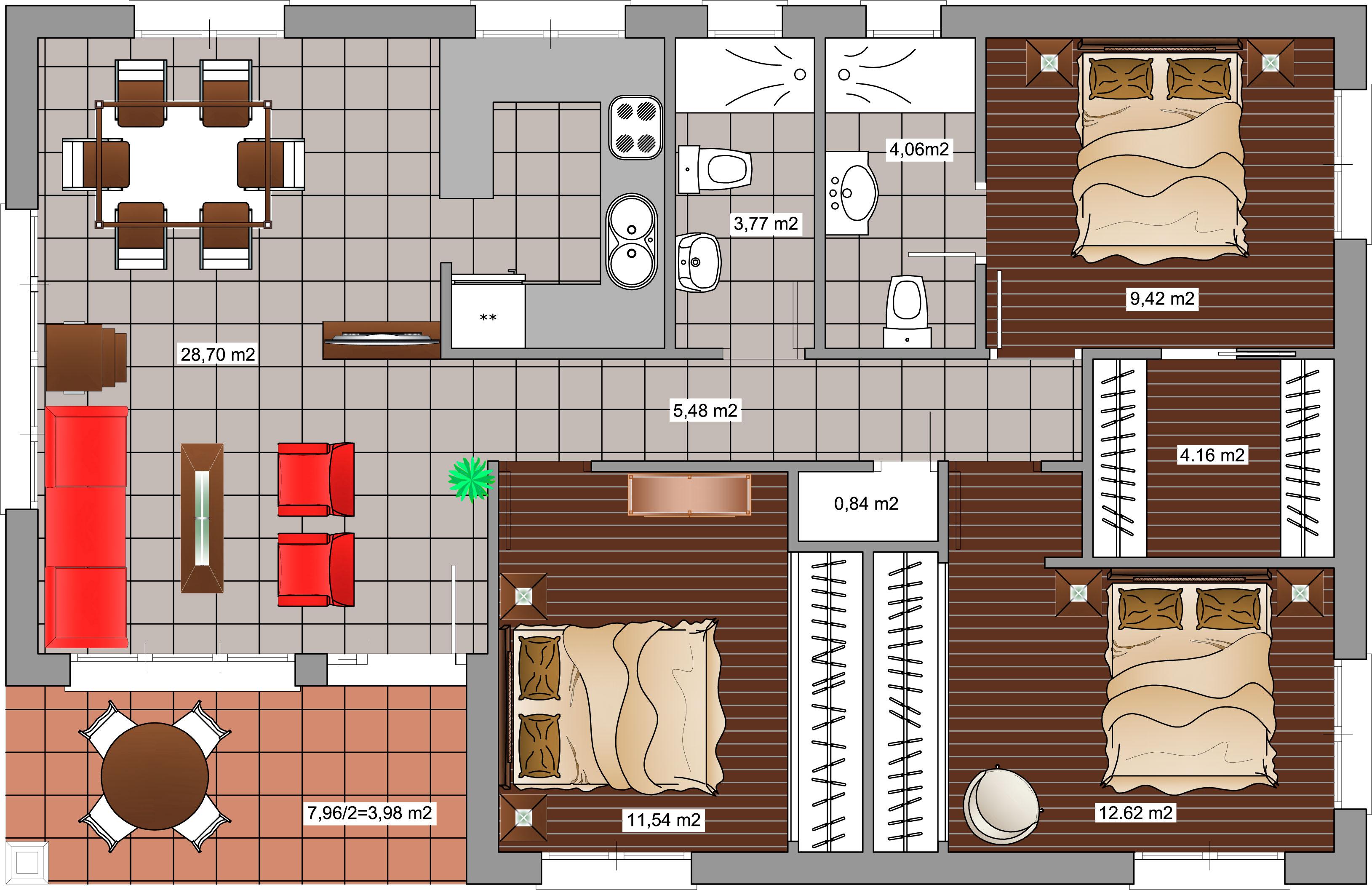 vivienda 100 m2